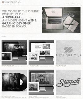 SUGI DESIGNS スギデザインズ    東京都のWEB&GRAPHICデザイナーA.SUGIHARAのポートフォリオサイト